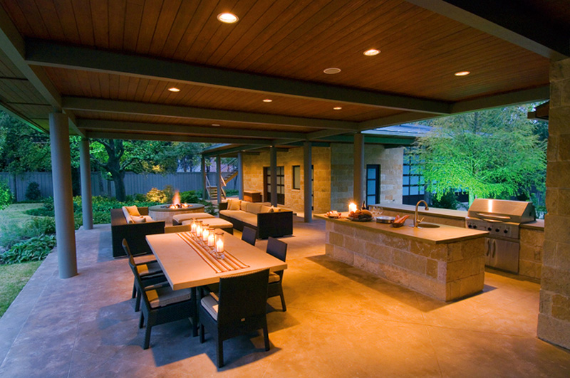 Outdoor Living Gallery - Bonick Landscaping on Outdoor Kitchen Living Spaces id=44280