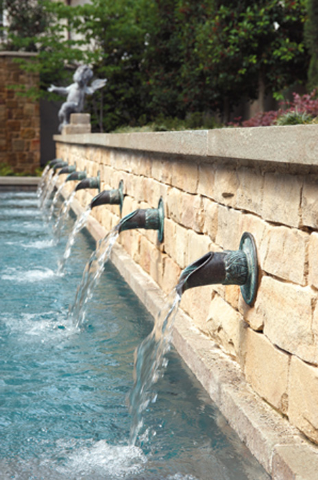 Pools gallery bonick landscaping - Decorative water spouts ...