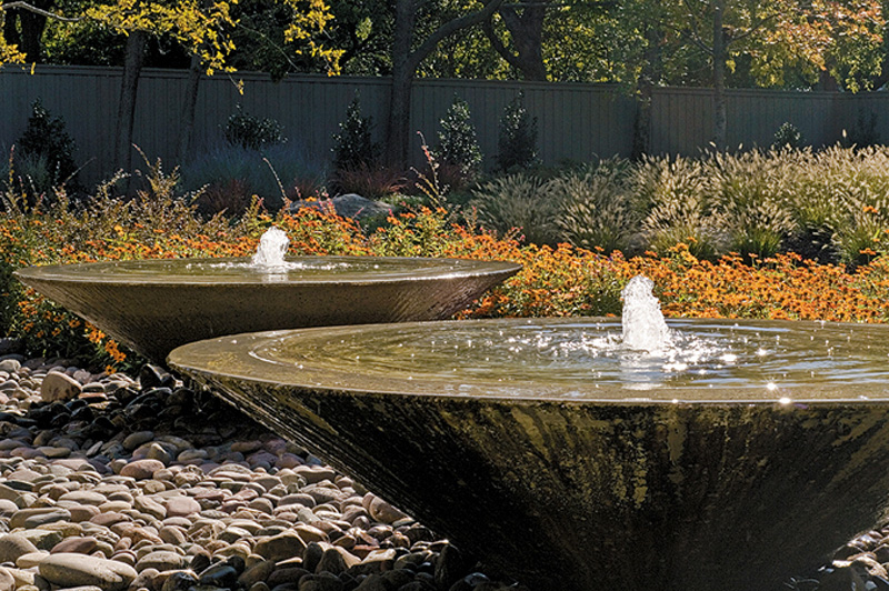 Water feature gallery bonick landscaping for Contemporary garden ponds