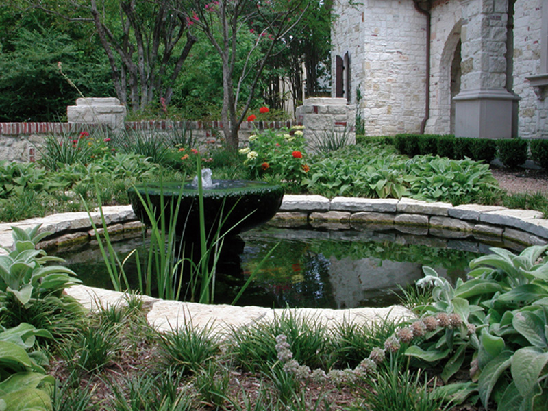 Water feature gallery bonick landscaping for Stone koi pond