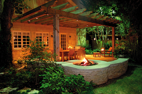 Dallas Outdoor Fireplace