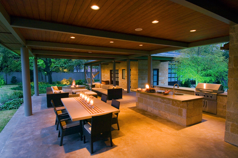 Dallas outdoor living spaces and hardscapes bonick for Dallas outdoor kitchens