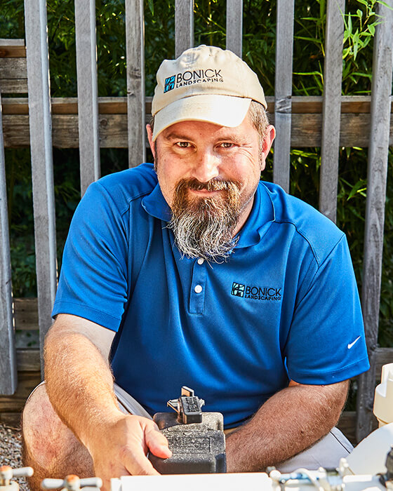 Bonick Landscaping team member Bo Nicholson