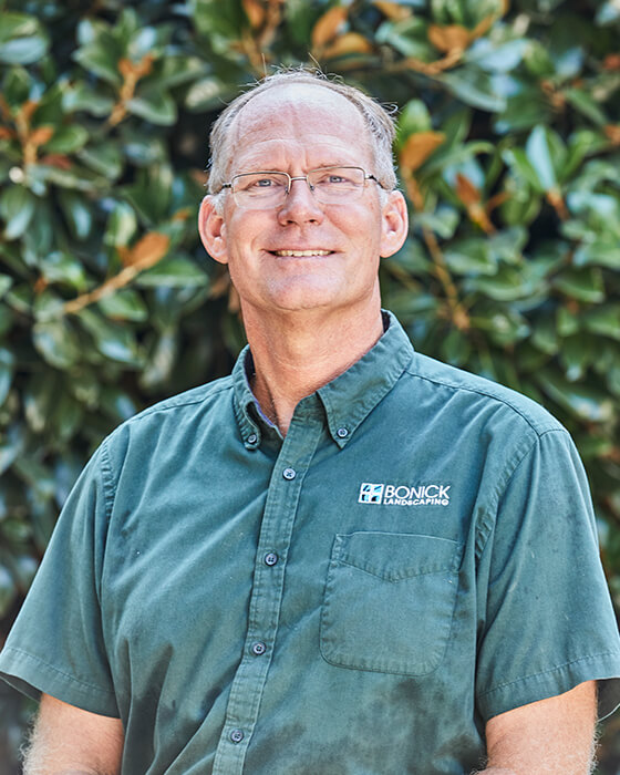 Bonick Landscaping team member Bob Behling