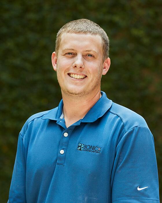 Bonick Landscaping team member Brendan Sacco