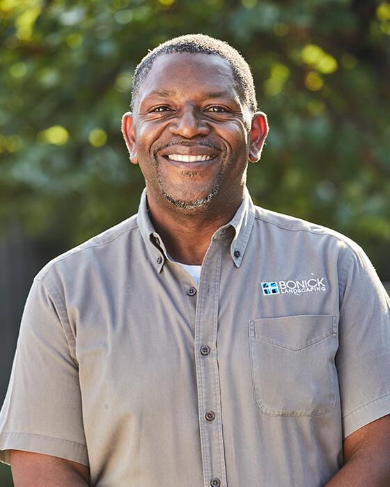 Bonick Landscaping team member Darron Thompson
