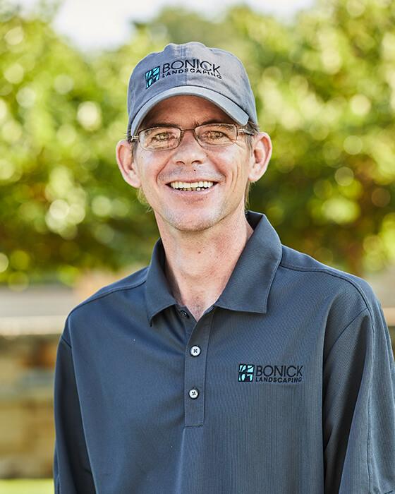 Bonick Landscaping team member Davin Mosher