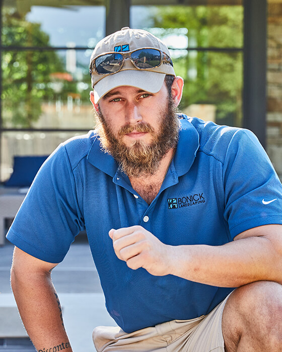 Bonick Landscaping team member Dustin Nicholson