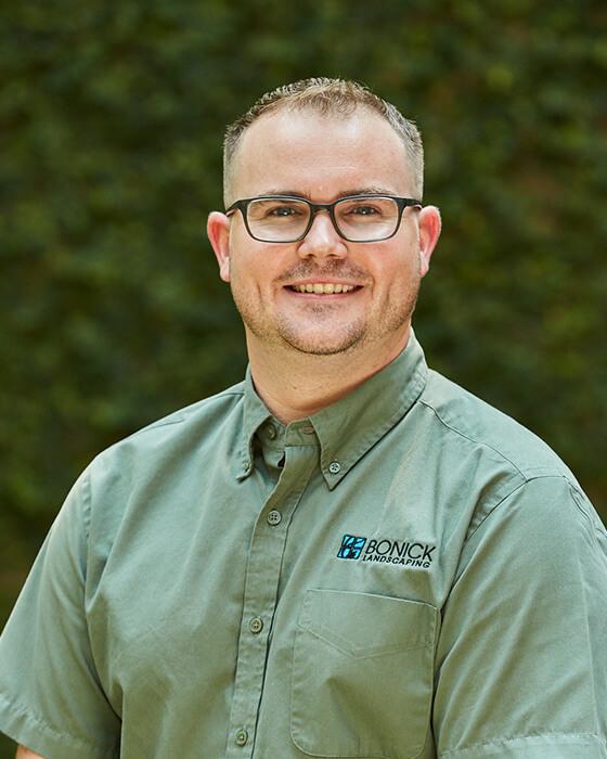 Bonick Landscaping team member Erik Christman