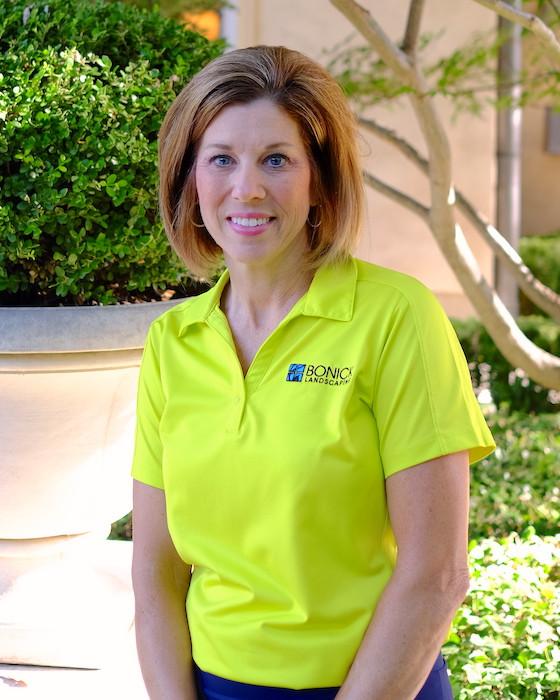 Bonick Landscaping team member Melanie Drury